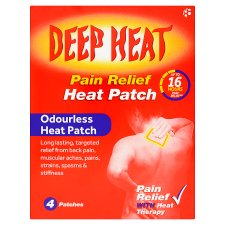Deep Heat Patch 4 Pack