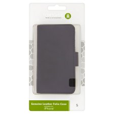 Iphone 5 Flip Folio Leath Crd Holder Case Black