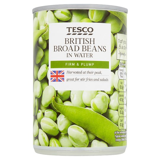 Tesco Broad Beans In Water 300G
