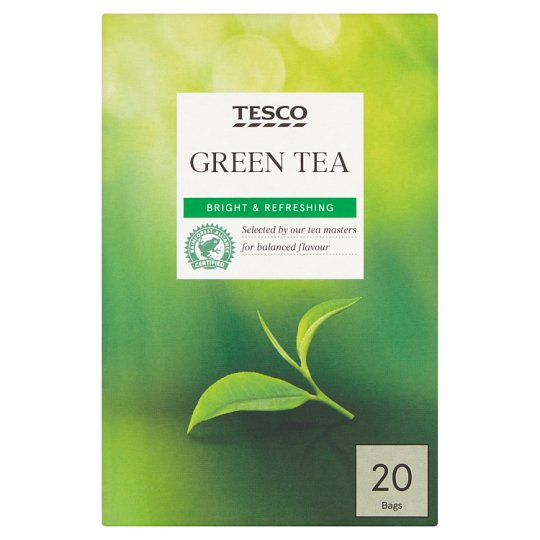 Tesco Green Tea Bags 20'S 50G