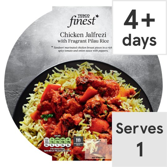 Tesco Finest Chicken Jalfrezi And Rice 450G