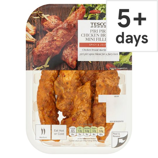 Tesco Fiery Piri Piri Chicken Mini Fillets 170G