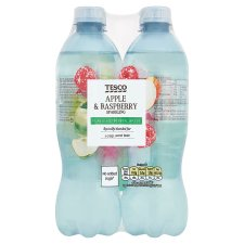 Tesco Apple And Raspberry No Added Sugar Sparkling Water 4X500ml