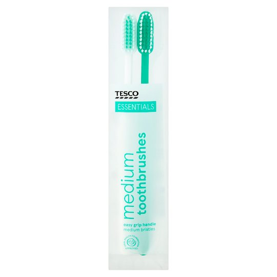 Tesco Essentials Toothbrushes 2 Pack