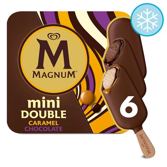 image 1 of Magnum Mini Double Caramel And Chocolate Ice Cream 6 X60ml