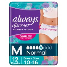 Always Discreet Normal Medium Incontinence Pants 12 Pack