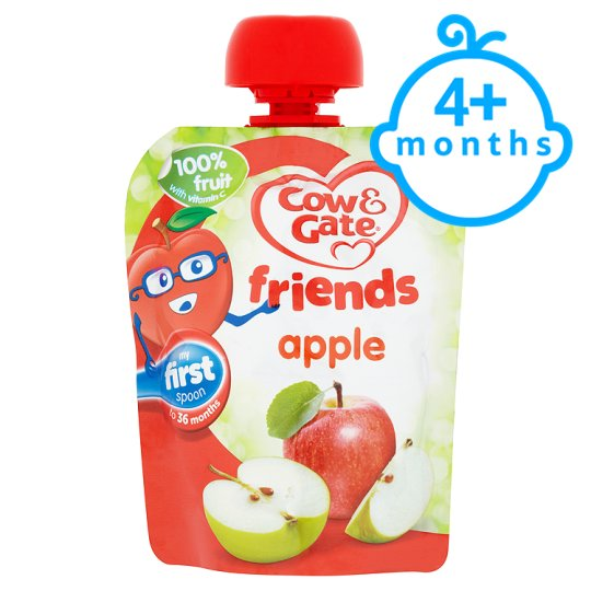 Cow And Gate Apple 100% Fruit Pouch 80G 4 Mth+