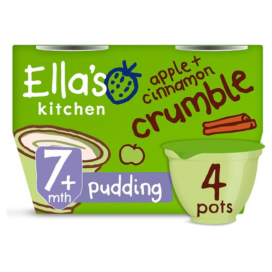 image 1 of Ellas Kitchen Apple And Cinnamon Crumble 4X80g