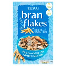 Tesco Bran Flakes Cereal 500G
