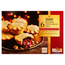 Tesco 6 Plum And Cinnamon Pies