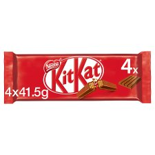 image 1 of Kit Kat 4 Finger Milk Chocolate Multipack 4 X41.5G