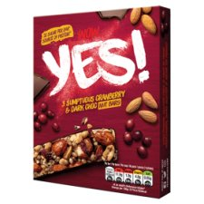 Yes Cranberry And Dark Chocolate Nut Bars 3X35g