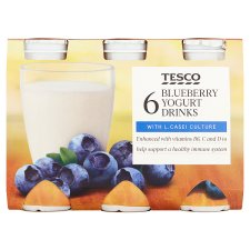 Tesco Blueberry Yogurt Drink 6 X100g
