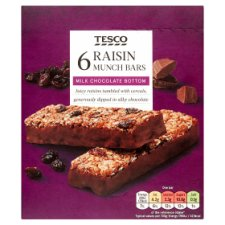 Tesco Raisin Munch Bar 6 X 32G