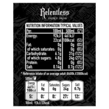 image 3 of Relentless Multipack 4 X 500Ml