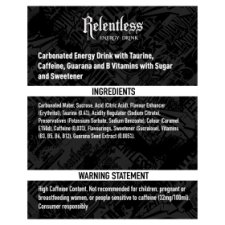 image 2 of Relentless Multipack 4 X 500Ml