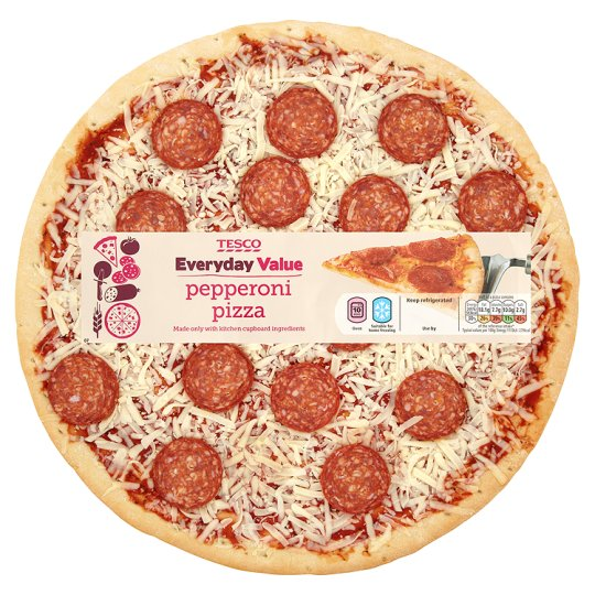 "Tesco Everyday Value 12"" Pepperoni Pizza 460G"