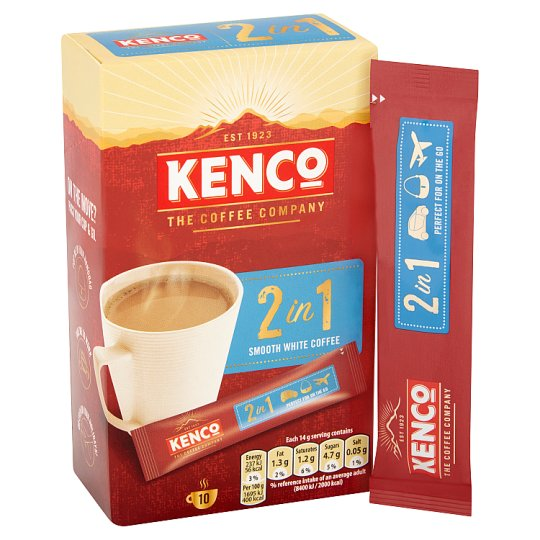Kenco Fusion 2 In 1 Instant Coffee 10 Sachets 140G
