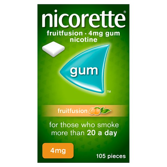 image 1 of Nicorette Freshfruit Gum 4Mg 105S