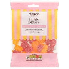 Tesco Pear Drops Sweets 200G