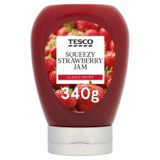 Tesco Strawberry Squeezy Jam 340G