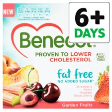 Benecol Fat Free Garden Fruits Yogurt 4 X125g