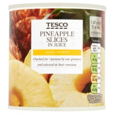 Tesco Pineapple Slices In Juice 432G