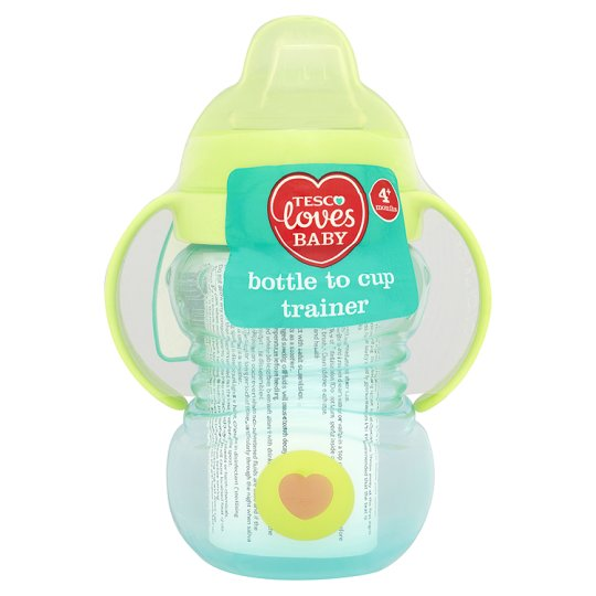 Tesco Loves Baby Bottle To Cup Trainer Blue