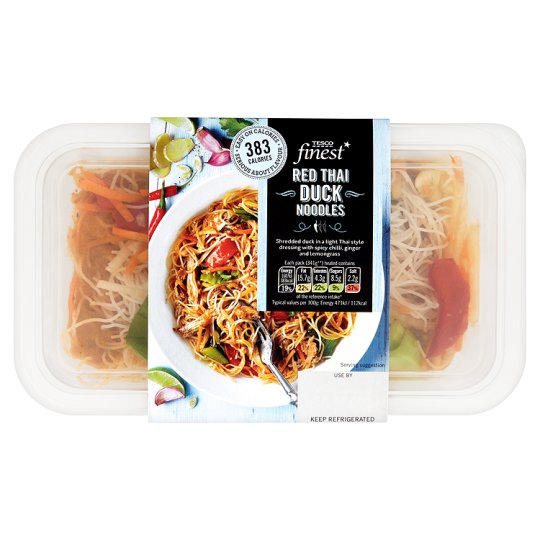 Tesco Finest Red Thai Duck Noodle 360G