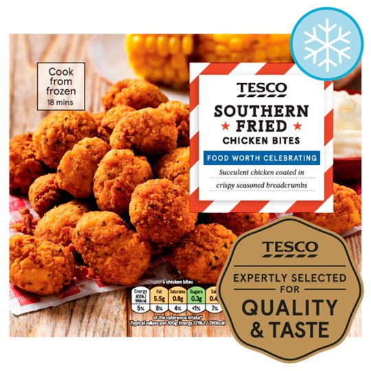 Tesco 18 Southern Fried Chicken Bites 220G