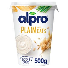 Alpro Soya Plain With Oats Yogurt 500G