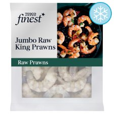 Tesco Finest Frozen Jumbo Raw King Prawns 240G