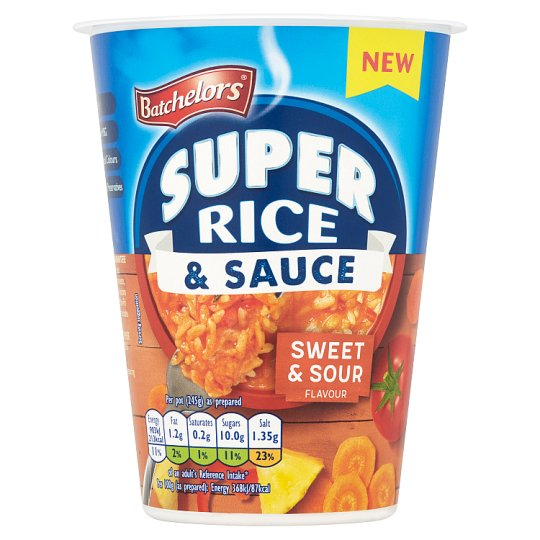 Batchelors Super Rice And Sauce Sweet And Sour 60G