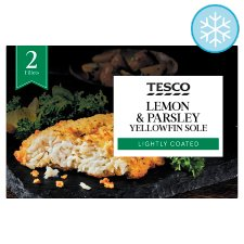 Tesco 2 Yellow Fin Sole Lemon And Parsley 250G