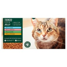 Tesco Cuts In Jelly Selection Cat Food Pouches 48 X100g