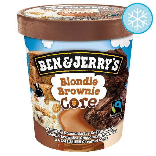 Ben And Jerry's Blondie Brownie Ice Cream 500Ml