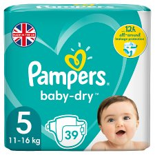Pampers Baby Dry Size 5 Essential Pack 39 Nappies