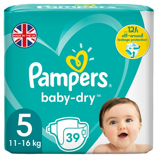 image 1 of Pampers Baby Dry Size 5 Essential Pack 39 Nappies