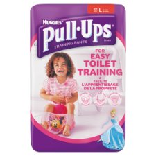 Huggies Pull Ups Size 6 Girl Carry Pack 12