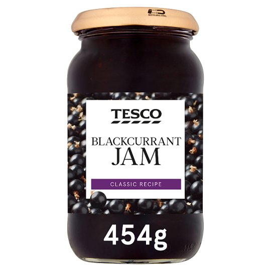 Tesco Blackcurrant Jam 454G