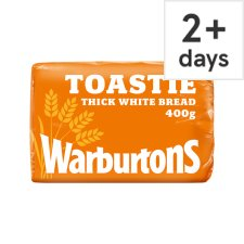 Warburtons Toastie Sliced Small White Bread 400G