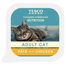 Tesco Poultry Cat Food Pate 100G