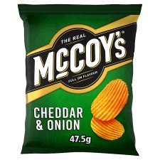 Mccoy's Cheddar And Onion Crisps 47.5 G