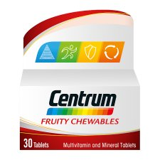 Centrum Fruity Chewables 30 Tablets