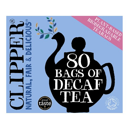 Clipper Tea Everyday Decaffeinated 80 Tea Bags
