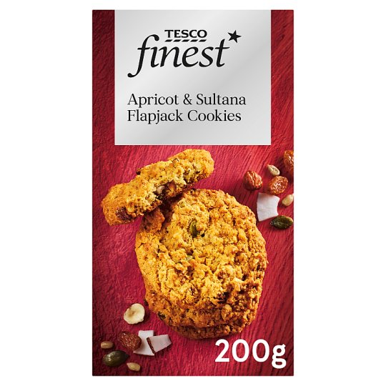 Tesco Finest Fruity Flapjack Cookies 200G