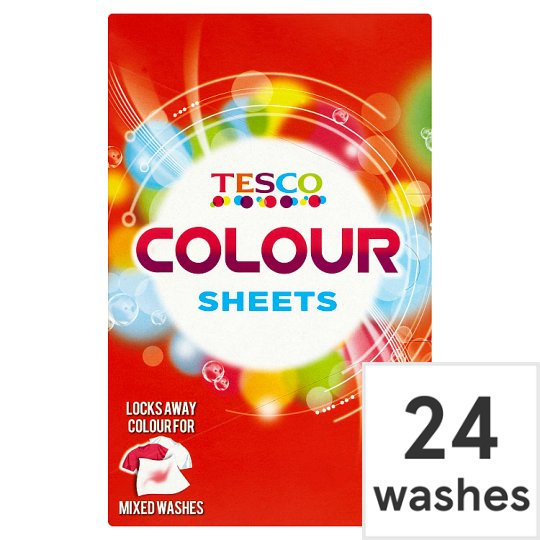 Tesco Colour Sheets 24'S