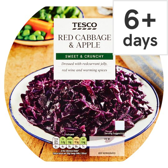 Tesco Red Cabbage And Apple 300G
