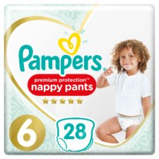 Pamper Active Fit Pants Size 6 Essential Pack 28 Nappy Pants