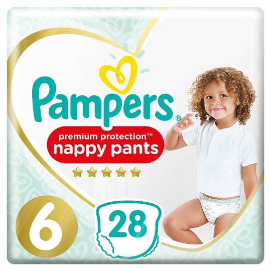 image 1 of Pamper Active Fit Pants Size 6 Essential Pack 28 Nappy Pants